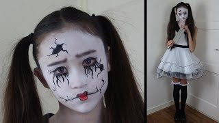 Broken doll / Gebroken popje | Halloween costume/kostuum | How to