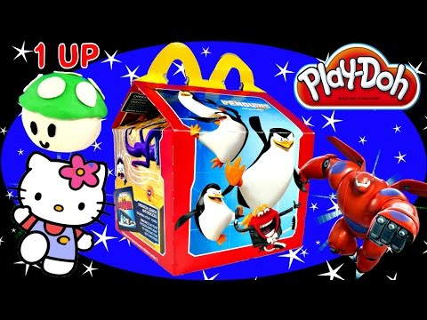 McDonalds Happy Meal Surprise Toys Play Doh Mario Egg Hello Kitty Big Hero 6 Blind Boxes DCTC