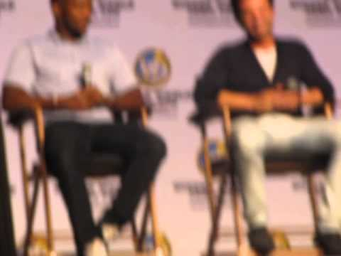 Sebastain Stan and Anthony Mackie at Wizard World Philadelphia 2014 for their Captain America panel