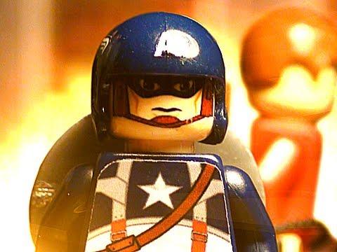 Una violenta aventura de Capitán América con Legos y stop motion