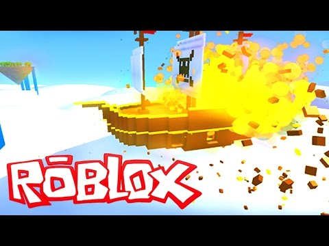 ROBLOX Flying Pirate Ship Battle!! - Pirate Ship Adventure Minigame In Roblox (Roblox Gameplay)