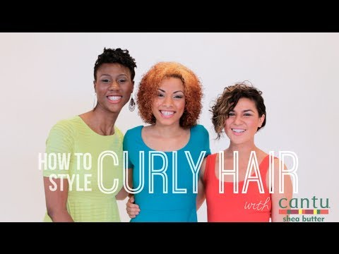 How To Style Curly Hair w/ Cantu Shea Butter