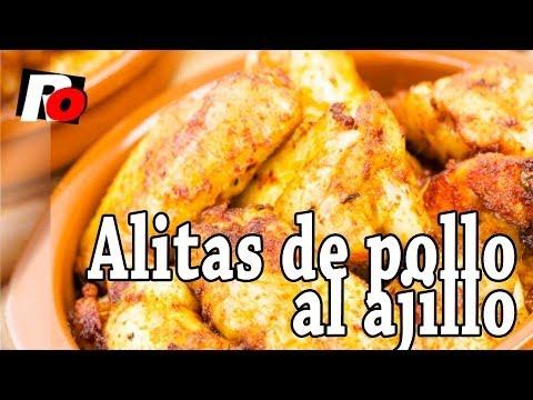 Alitas de pollo al ajillo - Recetas de cocina