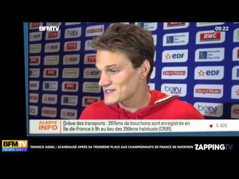 Yannick Agnel scandalisé par sa troisième place aux Championnats de France de Natation   vidéo Daily