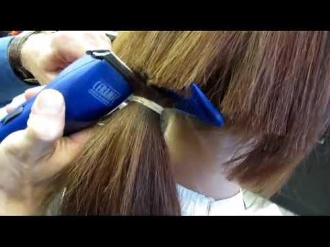 Brittany clipper cuts her long hair short buzz haircut Britney