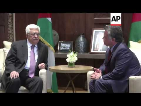 Palestinian President Mahmoud Abbas meets Jordan's King Abdullah II