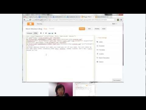 Hangout on Air: Advanced Posting with Blogger's HTML Editor