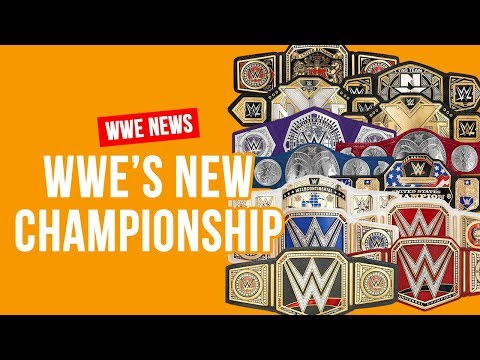 WWE To Unveil New Championship After WrestleMania 34?