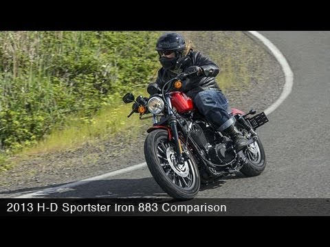 MotoUSA Urban Cruiser Comparison: 2013 Sportster Iron 883