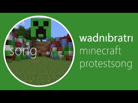 Minecraft protestsong - Wadn brati (WB pa Minecraft)