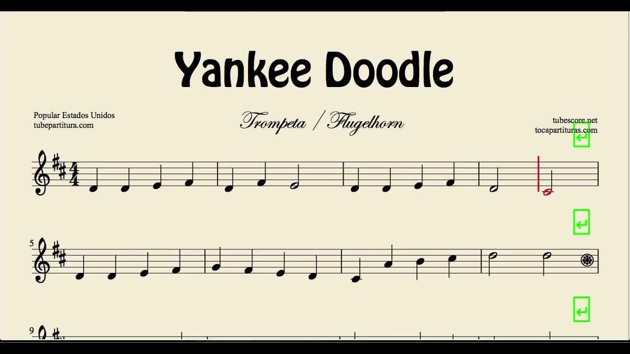 Yankee Doodle Dandy Sheet Music Yankee Doodle Sheet Music for