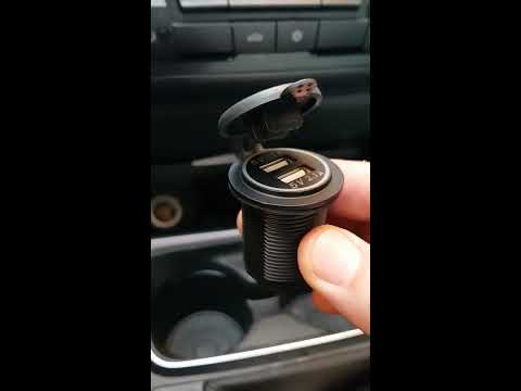 Bmw f30 cigarette lighter replacement with two usb port adaptor