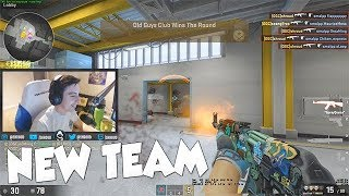 Shroud's First Match With New CS:GO Team! (Old Guys Club W/ n0thing & Sgares)