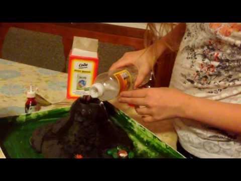 Как сделать свой вулкан видео в домашних