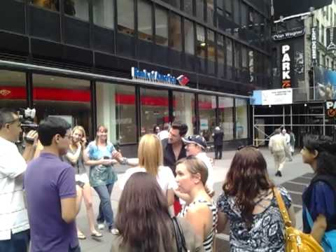 Cinema Haven on location - Maksim Chmerkovskiy shooting an interview for extra in NYC