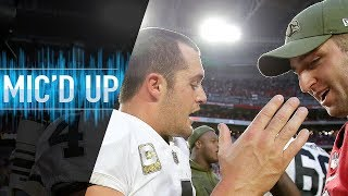 """Josh Rosen Mic'd Up vs. Raiders """"They have to miss this field goal""""   NFL Films"""