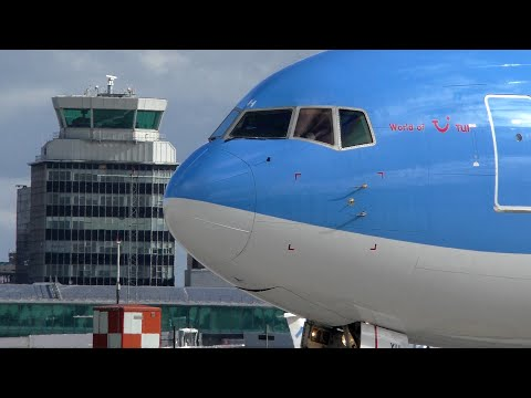 Manchester Airport Spotting Full Video with ATC Part 1