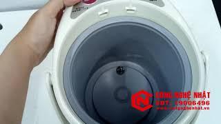 Bình thủy điện PVN-B220 2.15L chính hãng Tiger màu trắng 95% 2nd nội địa Nhật