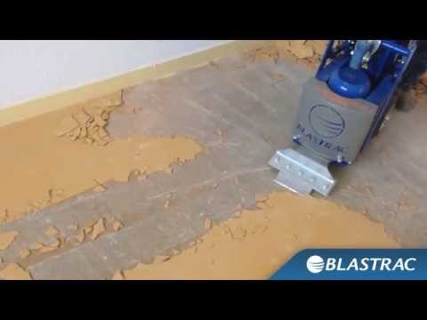 Rimozione PVC, Linoleum e piastrelle con Stripper Blastrac BS-110 & BMS-220ADB
