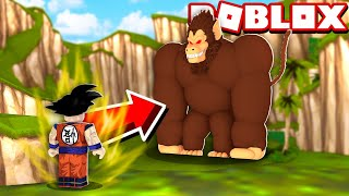 ME TRANSFORMEI EM OOZARU O MACACO GIGANTE NO ROBLOX!! (Dragon Ball)