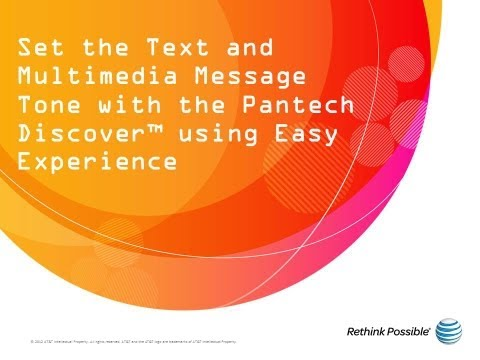 Set the Text and Multimedia Message Tone with the Pantech Discover using Easy Experience