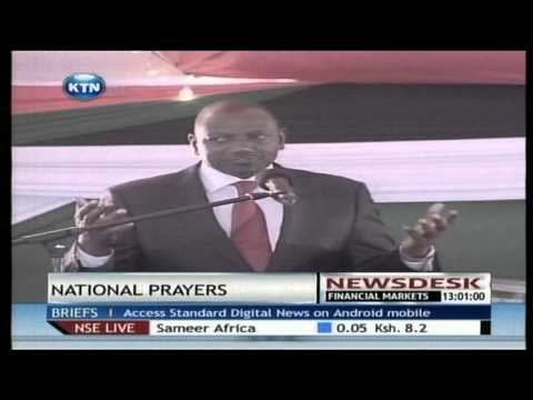 President Uhuru Kenyatta and  William Ruto lead Kenyans in Prayers