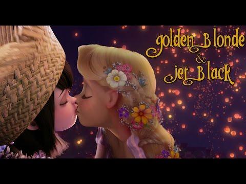Golden Blond and Jet Black
