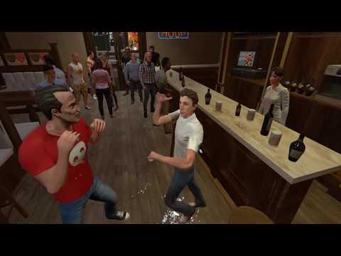 Симулятор пьяной драки в баре. Drunkn Bar Fight. HTC Vive.+18