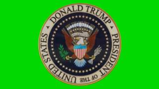 FREE HD Green Screen SPINNING PRESIDENT DONALD TRUMP COIN SEAL