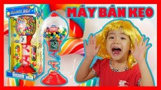 Đồ Chơi Trẻ Em MÁY BÁN KẸO CAO SU- Bé Ánh Mai Mở Hộp Đồ Chơi Máy Nhả Kẹo- Gumball Dispenser Toy