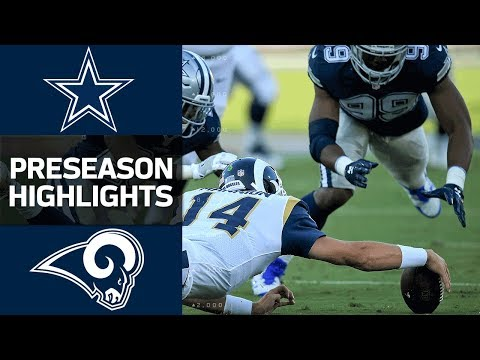 Cowboys Vs Rams Nfl Preseason Week 1 Game Highlights