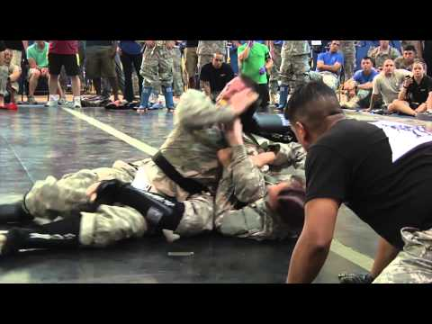 MilitaryMixedMartialArts.com News - Army Girl almost gets arm bar Image 1
