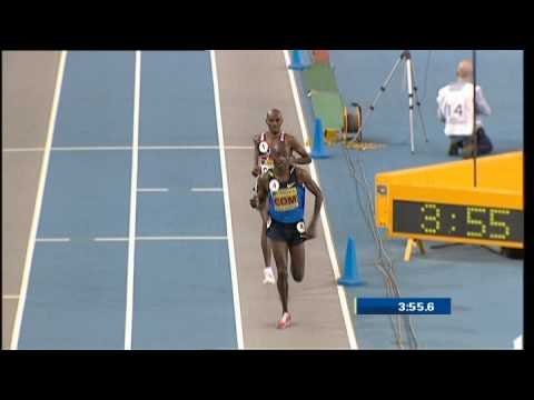 Mo Farah 3000m Indoor British Record 7:40.99 - Glasgow 2009 [HQ]