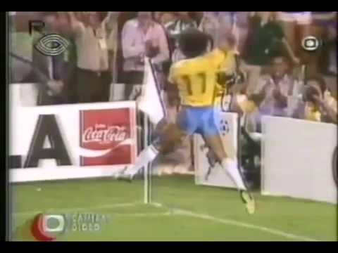 Todos os gols da Seleção Brasileira na copa de 1982. Transmissão da Globo, narrações originais de Luciano do Valle.