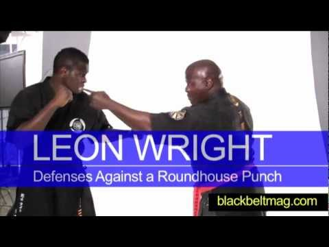 MCMAP Instructor Leon Wright Demonstrates Self-Defense Moves Against a Roundhouse Punch