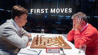 Keymer Surprises Naiditsch in Move 2!  | First Moves GRENKE Chess Classic 2019
