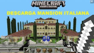 Descarga mansion italiana para minecraft pe 0.13.0 alpha