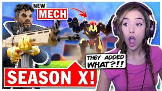 Pokimane Reacts to NEW Fortnite Season 10 + Battle Pass!