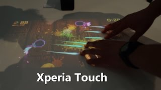 Xperia Touch Turns Any Surface Into a GIANT Android Tablet!
