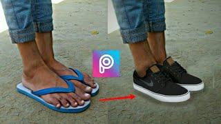 picsart sleeper change into shoes tutorial,picsart best editing,