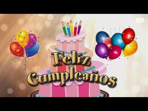 Feliz Cumpleaños animado. Feliz cumple instrumental. Felicitación de cumpleaños para dedicar #1