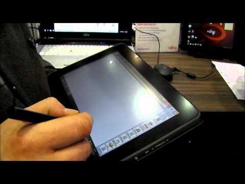 Fujitsu Stylistic Q550 CeBIT Hands on video review (13min HD)