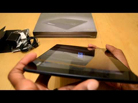 Asus Transformer Pad TF300T and Mobile Dock Unboxing