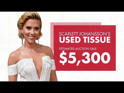 ScarJo's used tissue sold for $5K on eBay