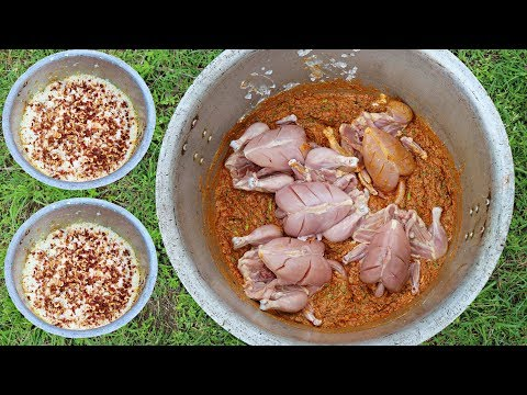JUNGLE CHICKEN BIRYANI EVER COOKED || RESTAURANT STYLE IN THE WILD || ENJOY HYDERABADI DUM BIRYANI