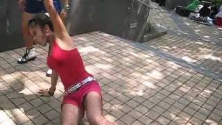 Asian Girls Dancing in Hong Kong, China to
