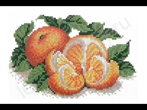 Вышивка апельсины крестиком 17