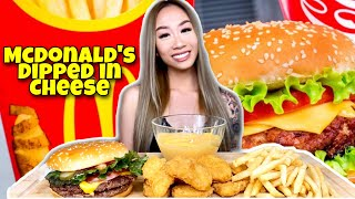 MCDONALDS DOUBLE QUARTER POUNDER DELUXE | CHICKEN NUGGETS | FRIES MUKBANG EATING SHOW