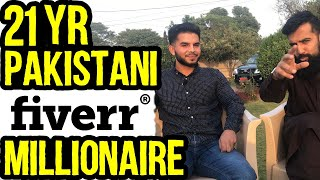 21 Yr Old Pakistani Fiverr Millionaire | 25-35 Lakhs a Month Income | Interview | Azad Chaiwala Show