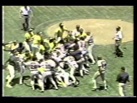 Oakland A's Cleveland Indians brawl 1986